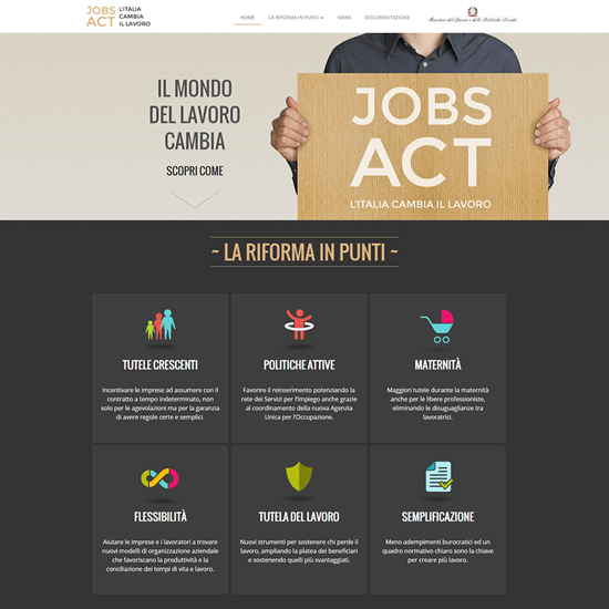 Sito internet Jobs act