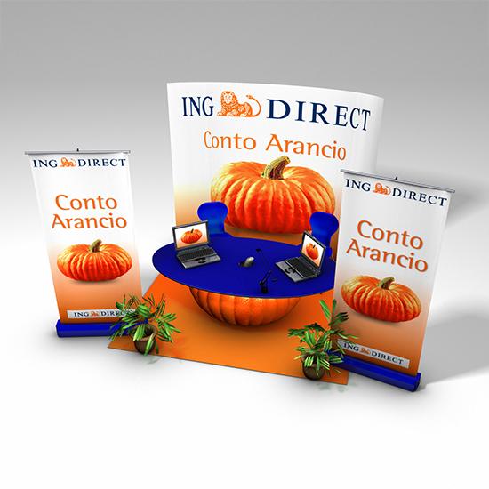 Sprint production/Ing Direct – Previsualizzazione stand