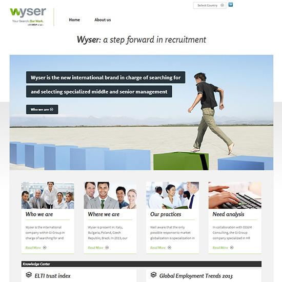 Wyser - Sito internet