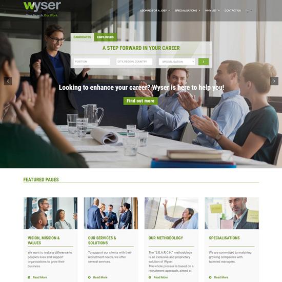 Wyser Search, sito internet